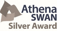 "Illustration of the Athena SWAN logo with the text ""Silver Award"""